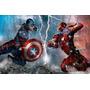 02 Mascara Homem De Ferro + Capitão America ( Guerra Civil )