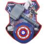 Kit Brinquedo Do Herói Thor Martelo Escudo Capitão Ame- 9072