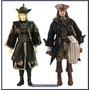 Piratas Caribe - Cap. Jack Sparrow E Elizabeth Disney 31 Cm