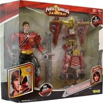 Power Rangers Samurai Boneco + Armadura Com 14 Peças - Sunny