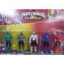 Kit Power Rangers Samurai C/ 5 Personagens Com Espadas
