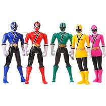 Boneco Power Rangers Samurai Caixa Com 5 Personagens Bandai