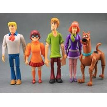Som De Latidos Scoobydoo Conjunto De 05 Bonecos Articulados
