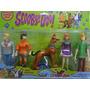 05 Bonecos Scoobydoo Com Luz E Som 12cm Altura Articulados