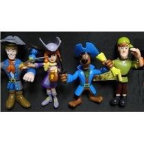 Kit Com 04 Bonecos Articulados Scoobydoo Roupas De Piratas