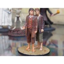 Miniatura Senhor Dos Anéis Frodo E Sam - Eaglemoss