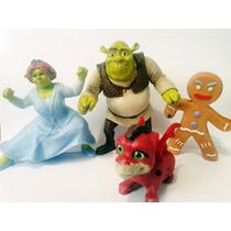Lote Shrek Mc Donalds - Shrek Fiona Biscoto Dragao Filhote