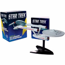 Star Trek Light-up Starship Enterprise Miniatura Kirk Spock