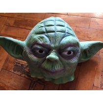 Máscara Fantasia Mestre Yoda Star Wars Látex Festa Cosplay