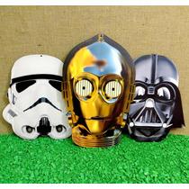3 Recortes Máscara Star Wars Darth Vader Stormtrooper C-3po