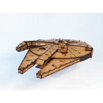 Quebra Cabeça 3d Artesanal Nave Millennium Star Wars