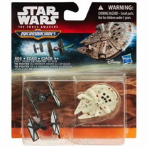 Kit 3 Naves Star Wars Episodio 7. Millenium Falcon First Ord