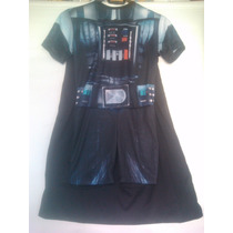 Fantasia Cosplay Darth Vader Infantil - Curta