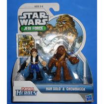 Han Solo E Chewbacca Star Wars Galactic Heroes Hasbro