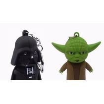 Chaveiro Darth Vader + Mestre Yoda Star Wars Com Som E Led