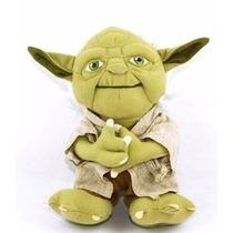 Boneco Mestre Yoda Star-wars Pelúcia 22cm Pronta Entrega