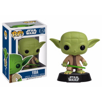 Star Wars Mestre Yoda Boneco Pop Vinil Da Funko 10cms