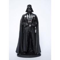 Star Wars - Estatueta Em Resina Mestre Yoda + Lord Vadher