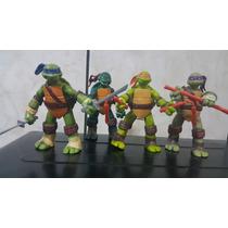 Kit Com 4 Bonecos Tartarugas Ninja Tmnt - Prontaentrega