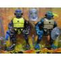Lote 04 Bonecos Tartarugas Ninja Articulados 07 Acessorios