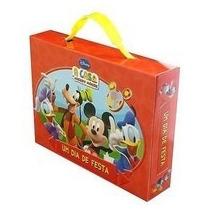 Maletinha Livros A Casa Do Mickey Mouse Disney Com 4