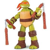 Boneco Tartaruga Ninja 28cm Michelangelo Multikids