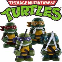 Kit 4 Bonecos - Tartarugas Ninjas - Action Figure Mod.02