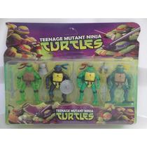Kit Com 4 Tartaturas Ninjas Com Iluminação De 12 Cm.