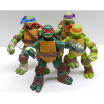 Tartarugas Ninjas Kit Com 4 Bonecos