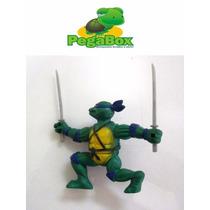 Boneco Tartaruga Ninja Leo Teenage Mutant Turtles Borracha