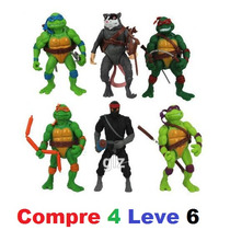 Kit Com 4 Tartarugas Ninja 12 Cm Classic Collection Official