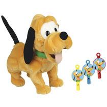 Pelucia Pluto Comando Sonoro Apito Disney Long Jump Bebe