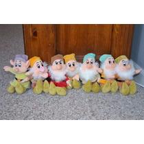 Sete Anões Em Pelúcia Disney Lote Completo Branca De Neve
