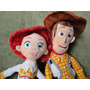 Conj. 2 Bonecos Woody E Jessie Grandes Toy Story - Original