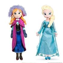 Princesa Anna E Rainha Elsa Disney Frozen - Pelucia 50cm