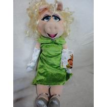 Miss Piggy Grande 48 Cm - Disney Store Original Com Patch