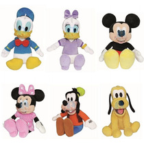 Turma Kit Mickey E Minie 6 Personagens, Pateta, Pluto E Mais