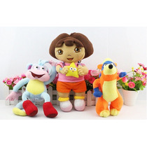 Dora Aventureira - Kit C/ 3 Personagens - Pronta Entrega