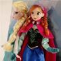 Duas Pelúcias Elsa E Anna Frozen 40cm Disney(leve 2 Pague 1)