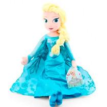 Boneca Elsa Frozen Pelúcia 50cm Original Disney - Long Jump