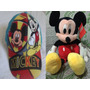 Kit Mickey Boné Mais A Pelucia Boneco Musical