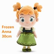 Boneca Baby Pelúcia Disney Frozen Anna 30cm - Pronta Entrega
