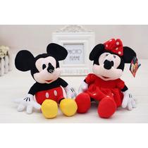 Pelúcia Mickey Mouse E Minnie 30cm Kit Com 2 Unidades!