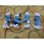 Quatro Miniaturas Smurfs Tamanho 14 Cm Como Novo