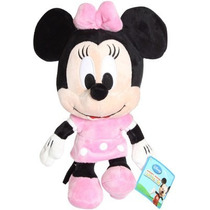 Boneco Pelúcia Disney Minnie Rosa Big Head Turma Do Mickey