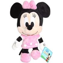 Boneco Pelúcia Disney Minnie Rosa Big Head Turma Do Mickey
