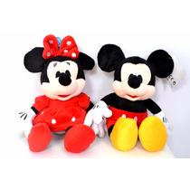 Mickey E Minie Pelúcia Musical Bonecos Presente Decoração