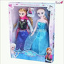 Boneca Frozen Importada Ana E Elza Caixa Com Duas