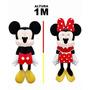 Uma Pelucia Grande Do Mickey Ou Da Minnie - Tamanho 1 Metro