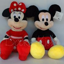 Pelúcia Mickey Mouse E Minnie 60 Cm Kit Com 2 Unidades